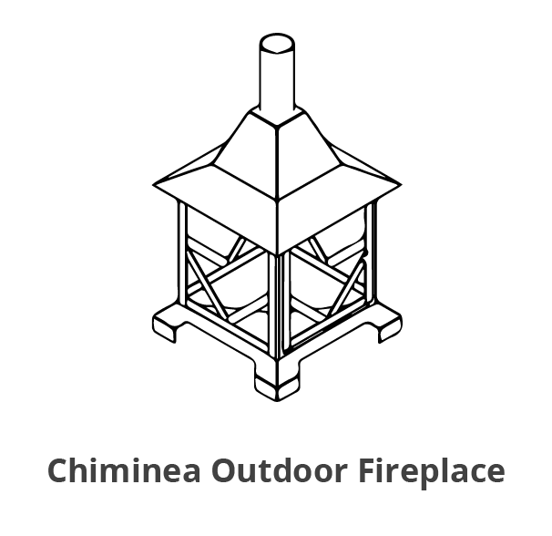 Chiminea Outdoor Fireplace