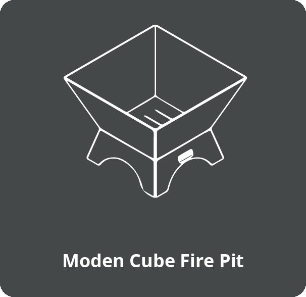Modern Cube Fire Pit