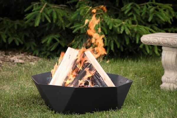 """24"""" cupola outdoor fire ring fireplace burning wood"""