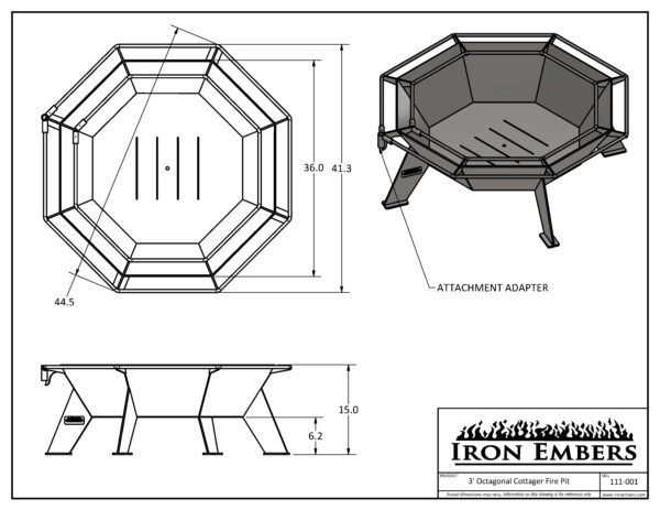 3' Cottager Technical Drawing