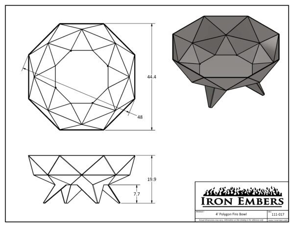 4' Polygon Technical Drawing