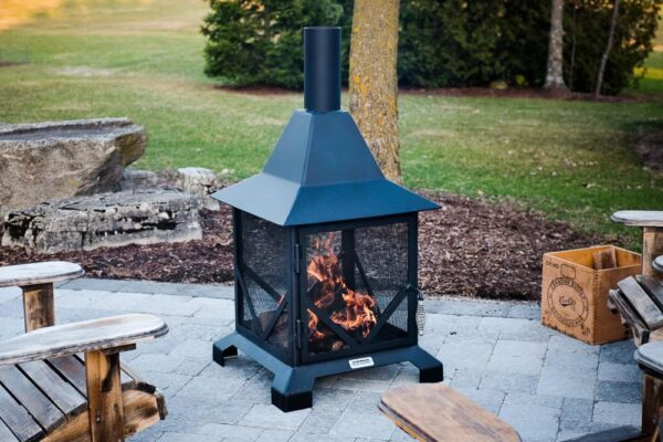 a 6′ Chiminea outdoor patio fireplace